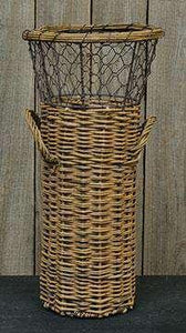 Willow Basket w/Chicken Wire Baskets CWI+