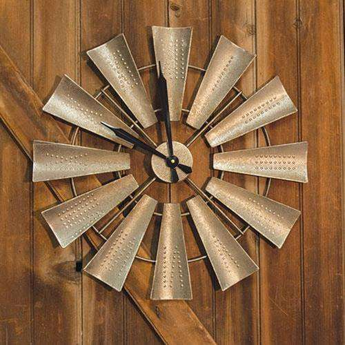 Windmill Wall Clock Farmhouse Style wall clocks CWI+