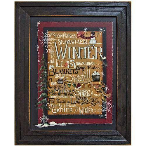 Winter Words Framed Print Michelle Musser CWI+