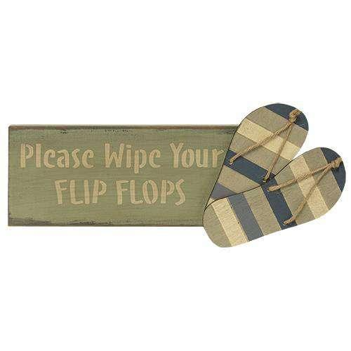 Wipe Your Flip Flops Sign HS Plates & Signs CWI+