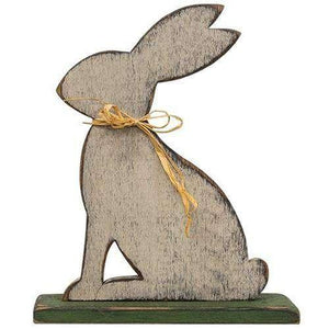 Wood Rabbit on Base Easter CWI+