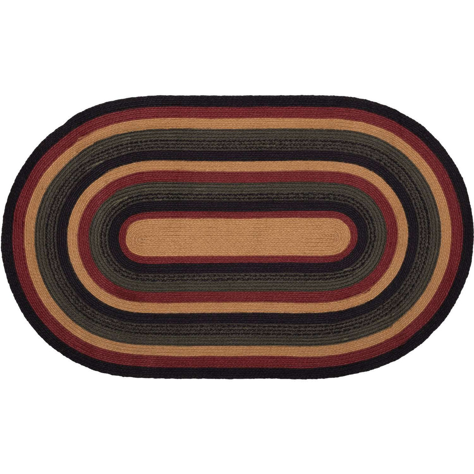 "Wyatt Jute Braided Rugs Oval VHC Brands Rugs VHC Brands 27""X48"""