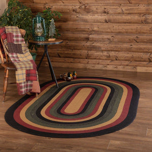 Wyatt Jute Braided Rugs Oval VHC Brands Rugs VHC Brands 5'x8'