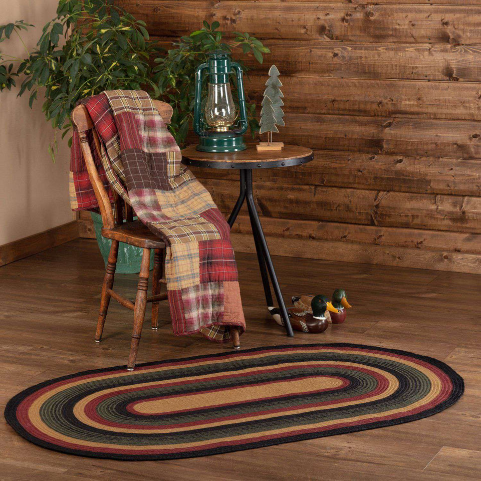 Wyatt Jute Braided Rugs Oval VHC Brands Rugs VHC Brands