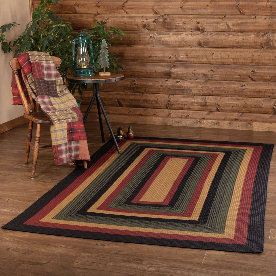 Wyatt Jute Braided Rugs Rectangle VHC Brands Rugs VHC Brands 5'x8'
