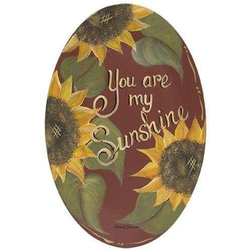 You Are My Sunshine Oval Plate Plates & Holders CWI+