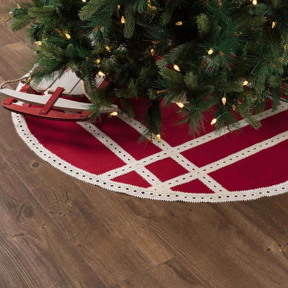Margot Red Tree Skirt 48