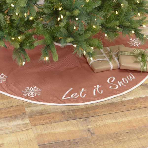 Let It Snow Tree Skirt 48