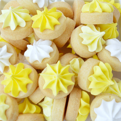yellow iced gems