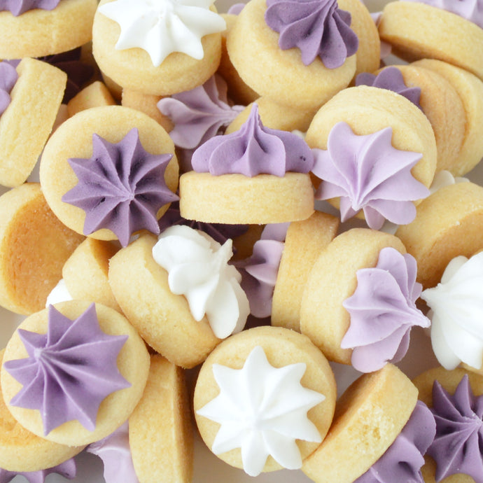 purple iced gems