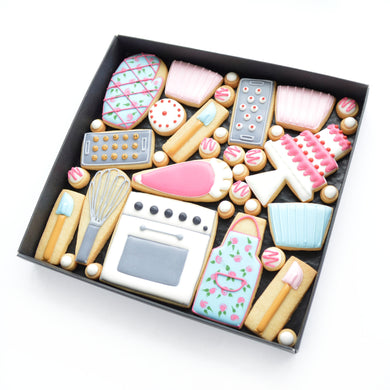 baking day theme hand iced biscuits by katies biscuit shop
