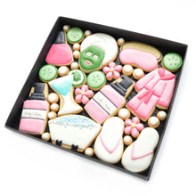Load image into Gallery viewer, spa day hand iced biscuits by katies biscuit shop