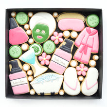 Load image into Gallery viewer, spa day decorated cookies by katies biscuit shop