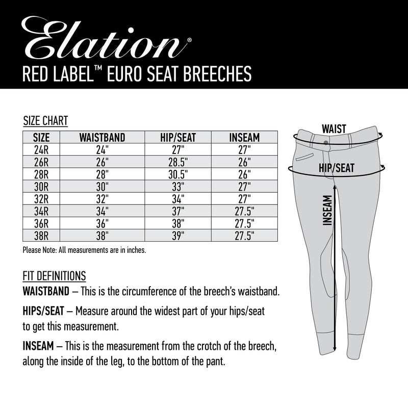 Elation Red Label Euro Seat Breech