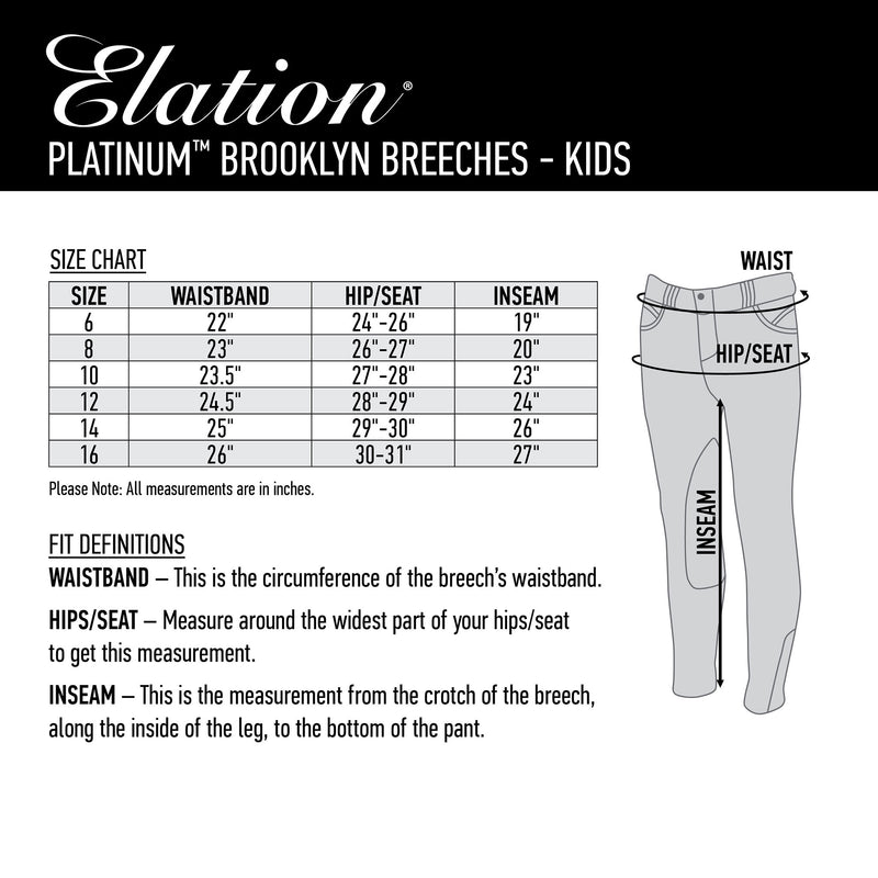 Elation Platinum Brooklyn Breech - Kids'