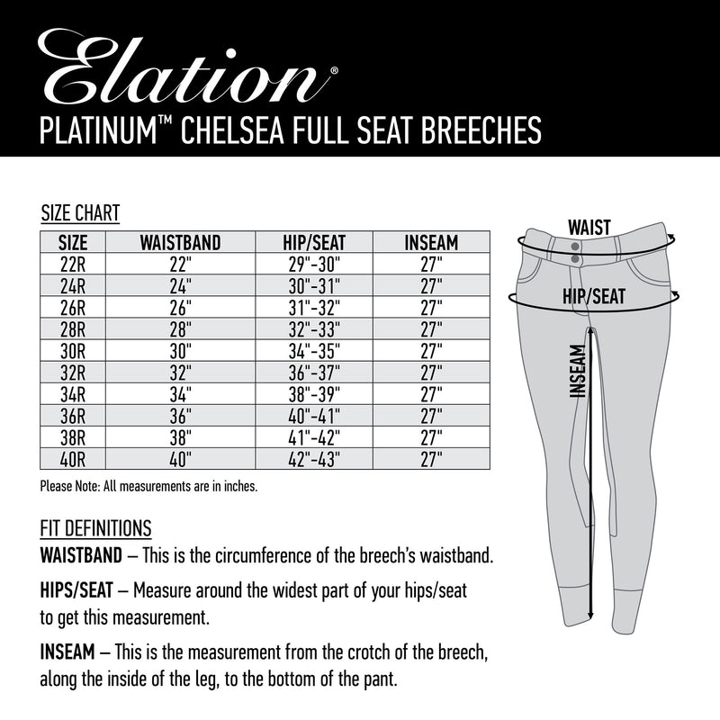 Elation Platinum Chelsea Full Seat Breech