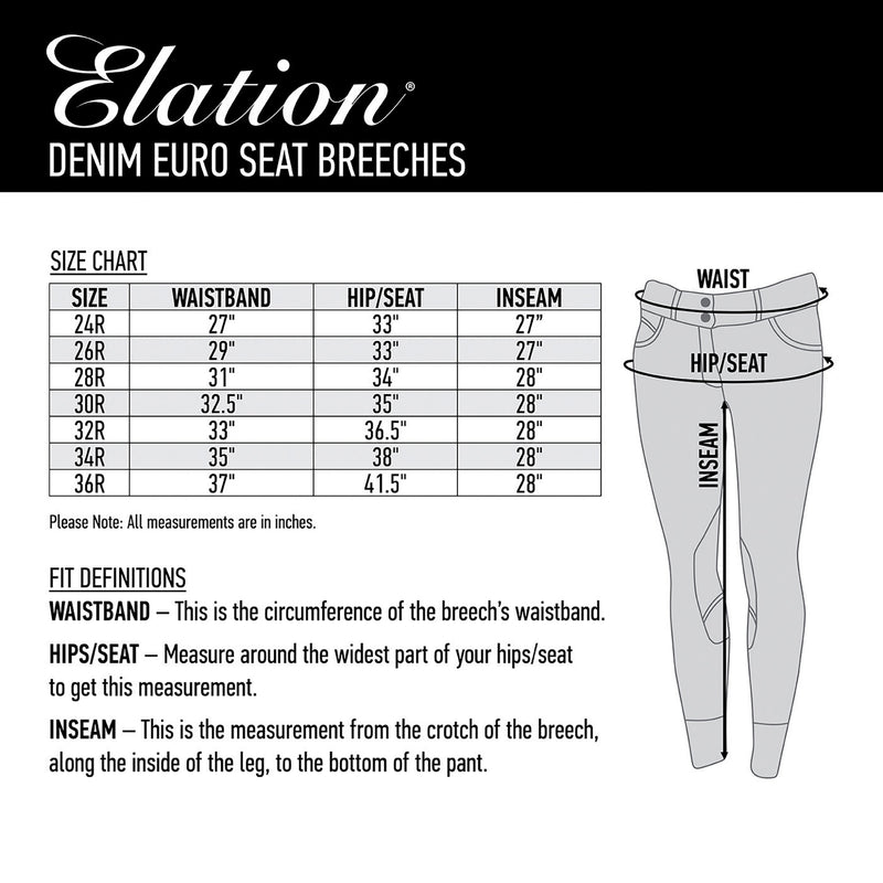 Elation Denim Euro Seat Breech