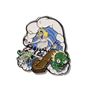 Surfin' Beetlejuice Soft Enamel Collectable Pin