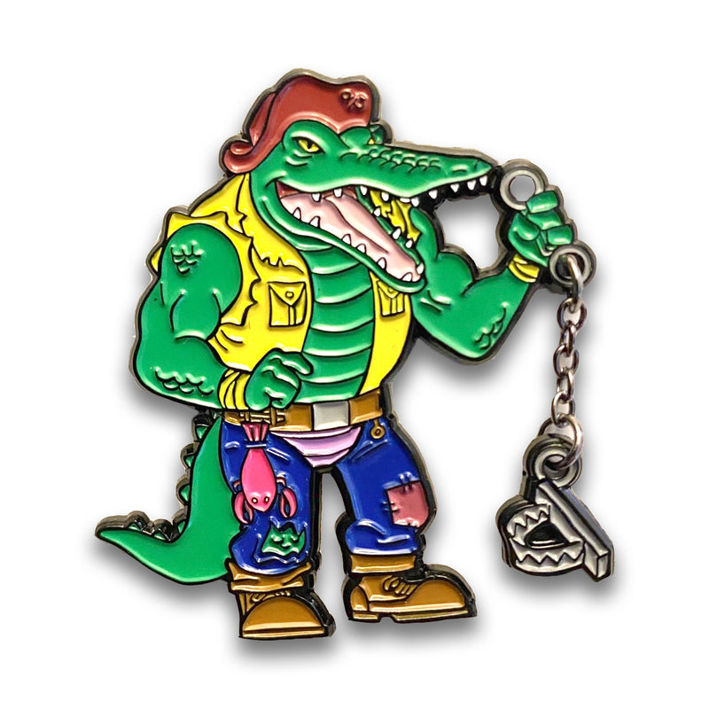 Shell Shocked Wave 1 Deluxe Leatherhead Enamel Pin