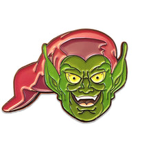 "Green Goblin Villainous Headshot 1.5"" Soft Enamel Pin Preorder Glow in the Dark"