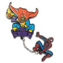 Spider-Man V Hobgoblin Deluxe Chained Enamel Pin Set