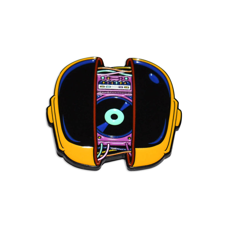 Daft Punk Helmet Synth Synthwave Vol 2. Enamel Pin