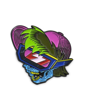 BK - Kid Vid Skull Soft Enamel Pin - 1.5