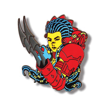 "2"" PREDATOR/MACHIKO HARD ENAMEL PIN RED/CLEAR ENAMEL CLAWS VARIANT"