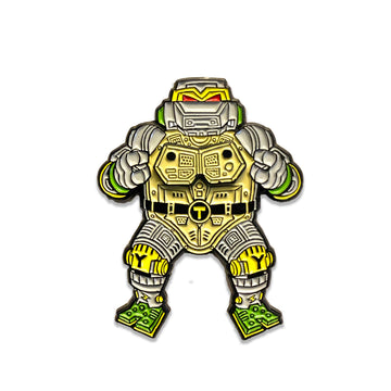 Shell Shocked Wave 1 Deluxe Metalhead Magnetic Enamel Pin