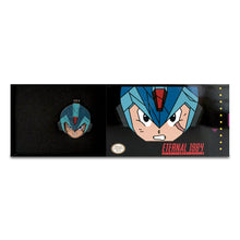 "Mega Man X Flip Hinge Pin 1.50"" With Deluxe SNES Box"