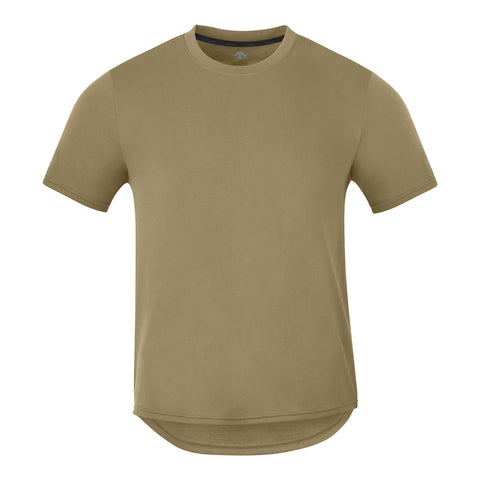 "{""color"":""Olive Shade"", ""alt"":""Spotless No-Show Sweat Short Sleeve T-Shirt in Olive Shade, Front""}"