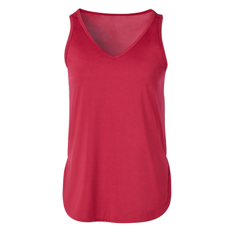 "{""color"":""Sangria"",""alt"":""Women's Smooth Touch V-Neck Tank, Front""}"