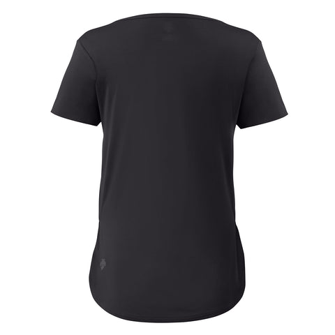 "{""color"":""Black"",""alt"":""Women's Smooth Touch V-Neck Short Sleeve Tee, Back""}"