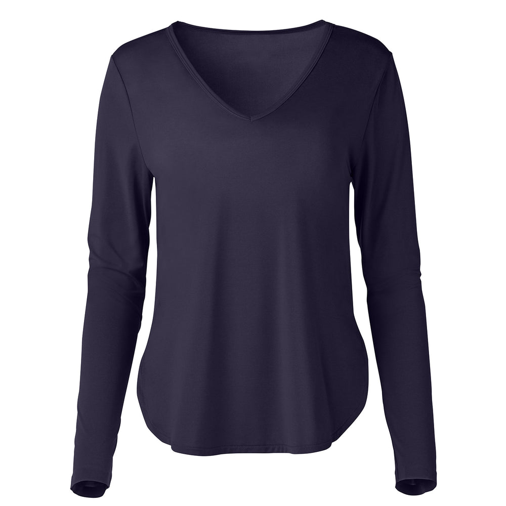 Smooth Touch V-Neck Long Sleeve Shirt