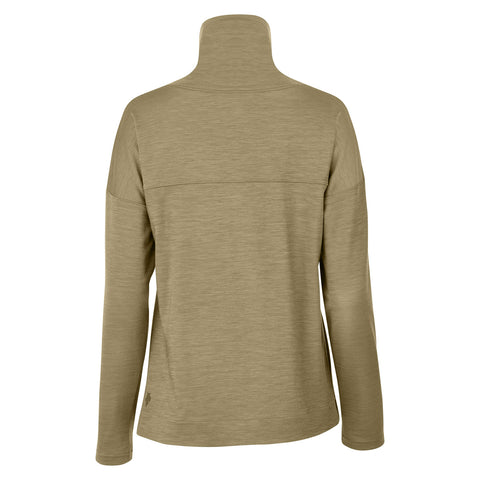 "{""color"":""Olive Shade"",""alt"":""Women's Manerd Wool Funnel Neck Pullover in Olive Shade Off Model Back View""}"