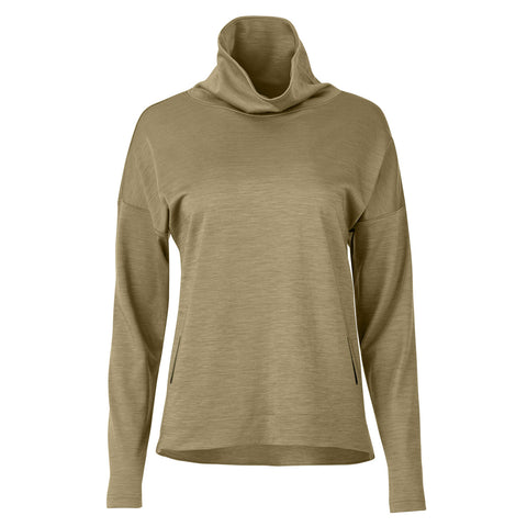 "{""color"":""Olive Shade"",""alt"":""Women's Manerd Wool Funnel Neck Pullover in Olive Shade Off Model Front View""}"
