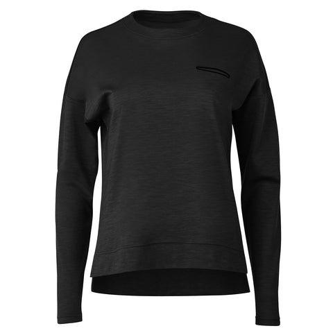 "{""color"":""Black"",""alt"":""Women's Manerd Wool Long Sleeve in Black""}"