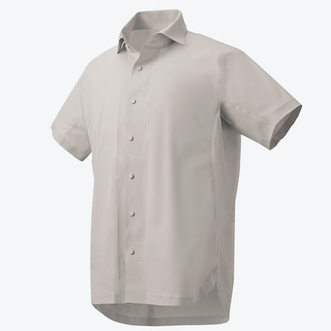 "{""color"":""White Ecru"",""alt"":""Men's ALLTERRAIN Seamless Stretch Button Down Shirt Off Model Front View in White Ecru""}"