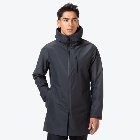 "{""caption"":""Model is 6'0\"", 31\"" Waist, Size Medium"",""color"":""Black"",""alt"":""Men's ALLTERRAIN Schematech Shield BOA Shell All-Weather Coat""}"