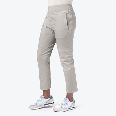 "{""caption"":""Model is 5'8\"", Size Small"",""color"":""White Ecru"",""alt"":""Women's ALLTERRAIN BOA Pants, On Model Side View""}"