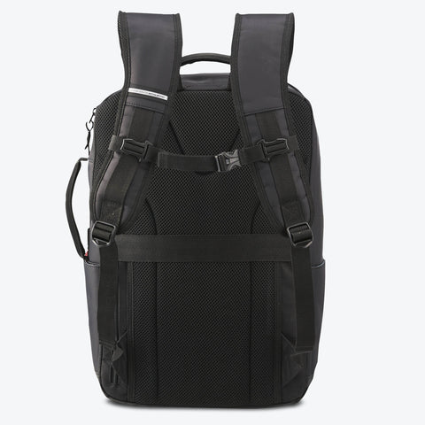 "{""color"":""Black"",""alt"":""Functional Backpack Back View in Black""}"