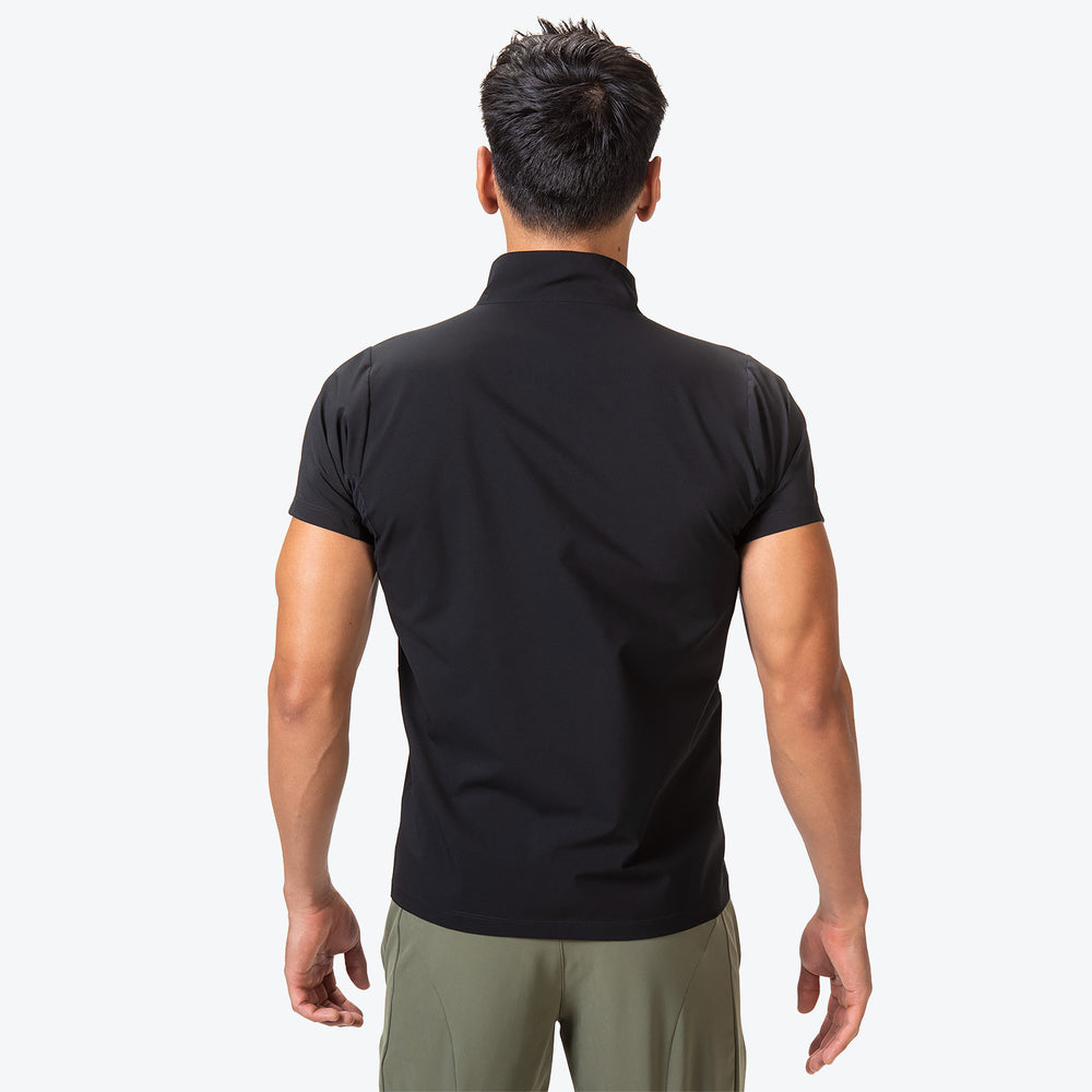 Zip Stretch Short Sleeve Shirt