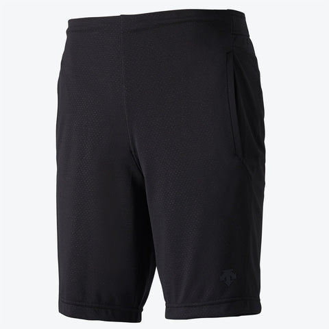 "{""color"":""Black"",""alt"":""Men's Mesh Training Shorts Shown Off-Model in Black front the Front""}"