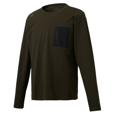 "{""color"":""Khaki"",""alt"":""Descente Men's Deodash Pocket T-Shirt, Front Side Off Model""}"