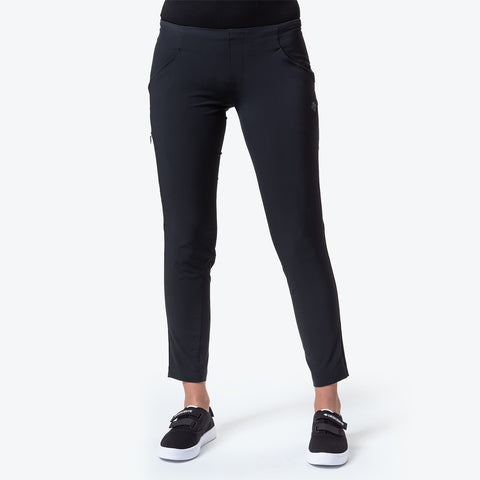 "{""caption"":""Model is 5'8\"", Size Small"",""color"":""Black"",""alt"":""Women's Soft Stretch Ankle Pants""}"