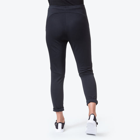 "{""color"":""Black"",""alt"":""Women's Sweat Ankle Pants worn on model back view in black""}"