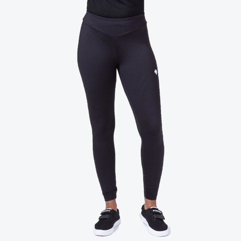 "{""caption"":""Model is 5'9\"", Pants Size 4, Wearing A Size Small"",""color"":""Black"",""alt"":""Luxe Sport Leggings in Black, Front View On Model""}"