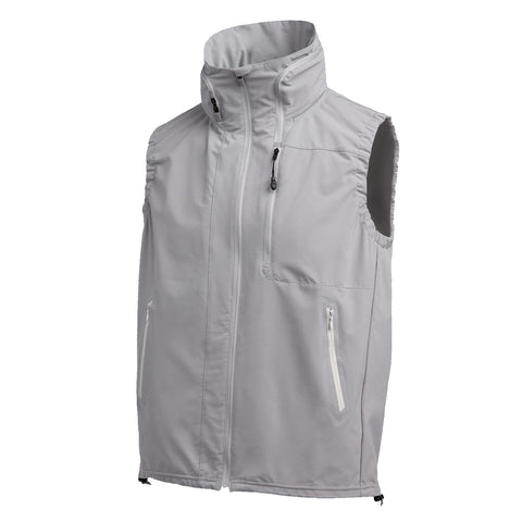 "{""color"":""Fog Gray"",""alt"":""DSPTCH x Descente Packable Waterproof Vest for Travel in Fog Gray""}"