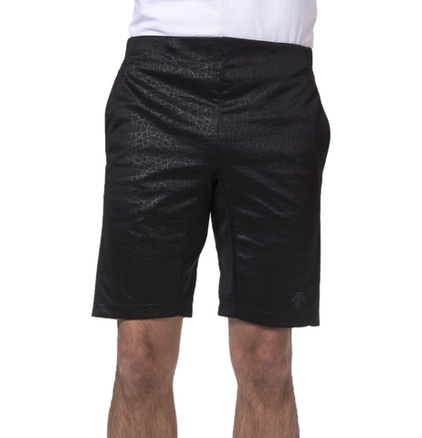 "{""caption"":""Model is 5'10.5\"", 32\"" Waist, Wearing A Size Medium"",""color"":""Black"",""alt"":""Men's Quick Dry Running Shorts On Model Front View""}"