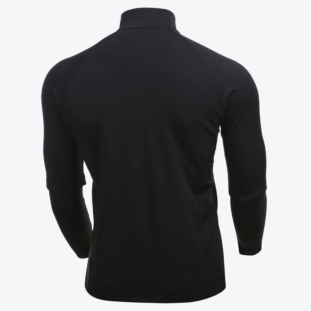 WARM GRID HALF ZIP LONG SLEEVE (FINAL SALE)